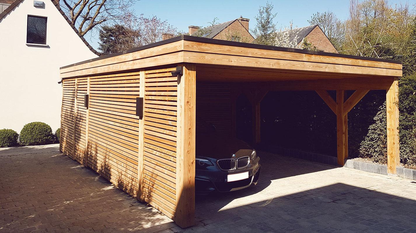 Carport avec toiture végétale