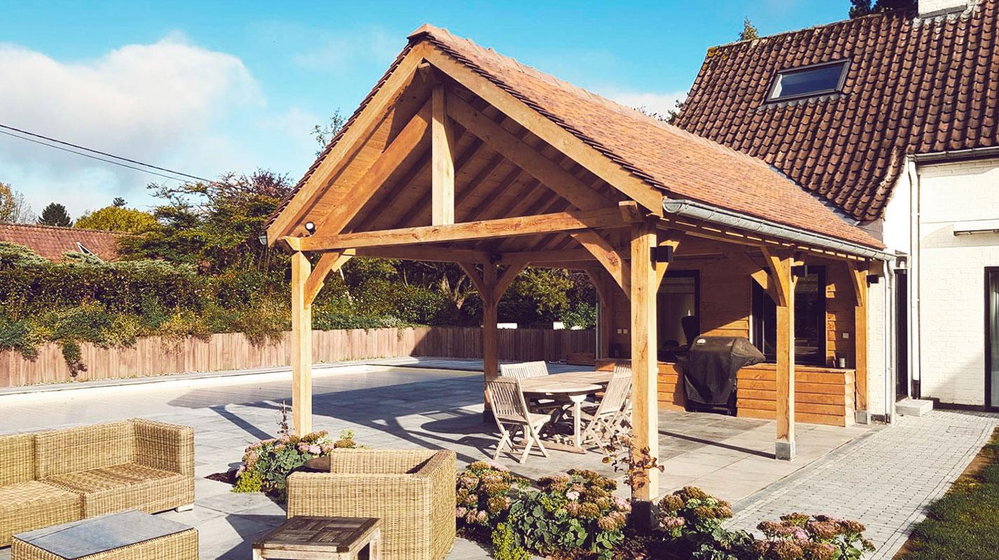 Poolhouse en terrasse