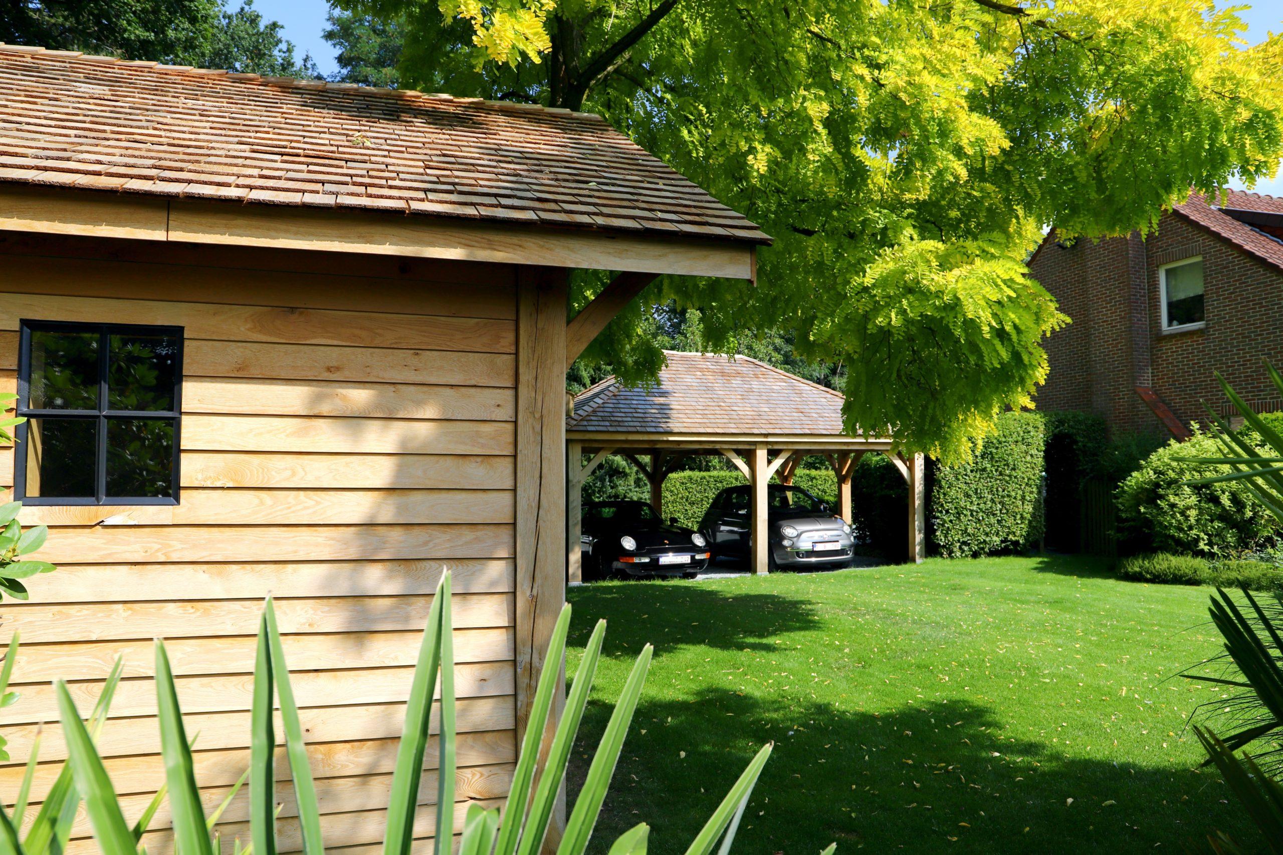 Carport et abri de jardin en bois sur mesure