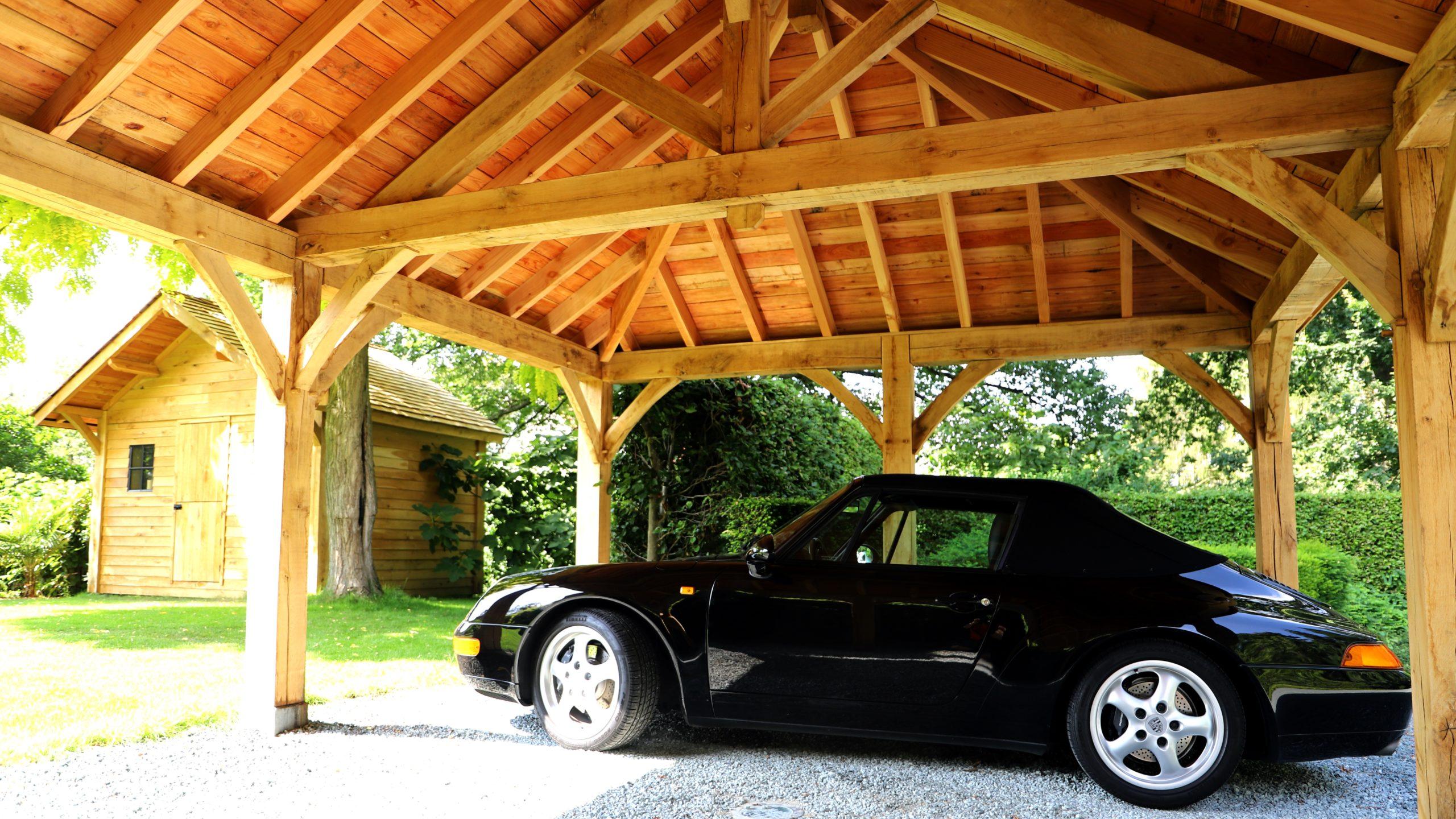Carport et abri de jardin en bois sur mesure extérieur